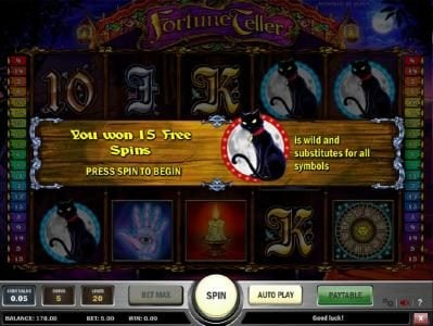 Unique Casino featuring the Video Slots Fortune Teller with a maximum payout of $1,250