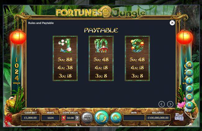 Fortunes of the Jungle :: Low Value Symbols