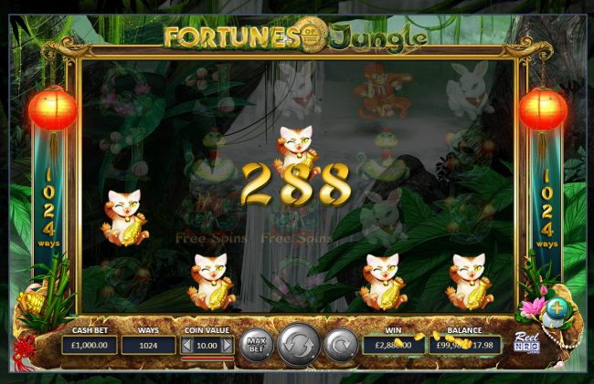 Fortunes of the Jungle :: A winning five of a kind