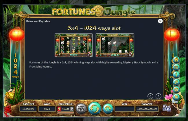 Fortunes of the Jungle :: 1024 Ways to Win