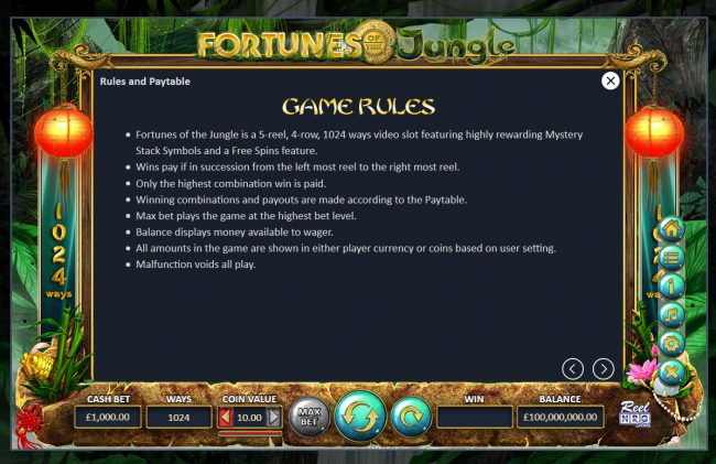 Fortunes of the Jungle :: Base Game Play