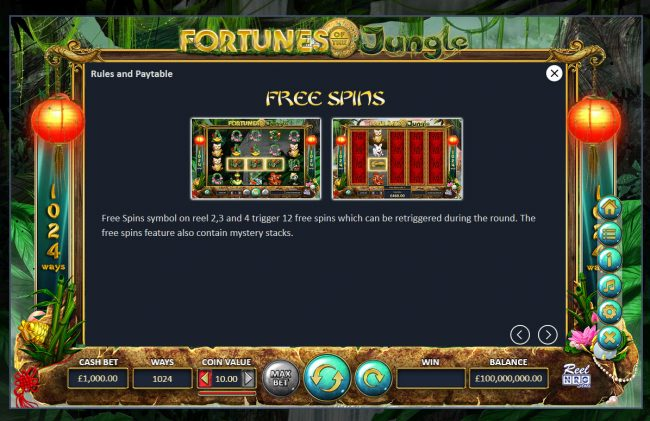 Fortunes of the Jungle :: Free Spins Rules