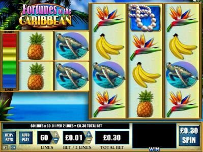 DruckGluck featuring the Video Slots Fortunes of the Caribbean with a maximum payout of $2,000