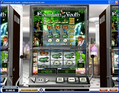 Play slots at Vernons: Vernons featuring the Video Slots Fountain of Youth with a maximum payout of $4,000