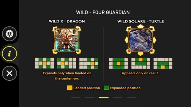 Four Guardians :: Wild X - Dragon and Wild Square - Turtle