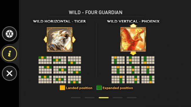 Four Guardians :: Wild Horizontal - Tiger and Wild Vertical - Phoenix