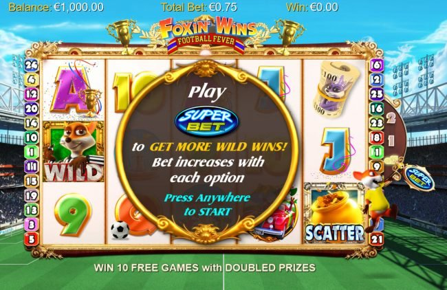 Play slots at TS: TS featuring the Video Slots Foxin' Wins Football Fever with a maximum payout of $1,250,000