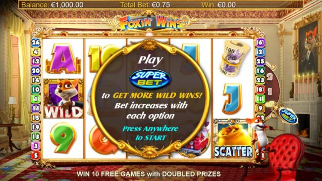 All Irish featuring the Video Slots Foxin' Wins HQ with a maximum payout of $125,000
