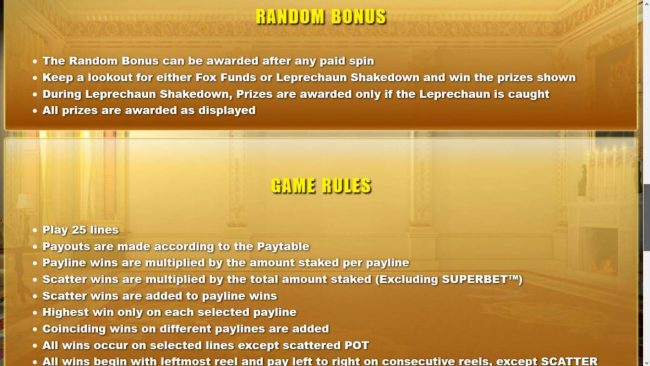 Diamond 7 featuring the Video Slots Foxin' Wins HQ with a maximum payout of $125,000