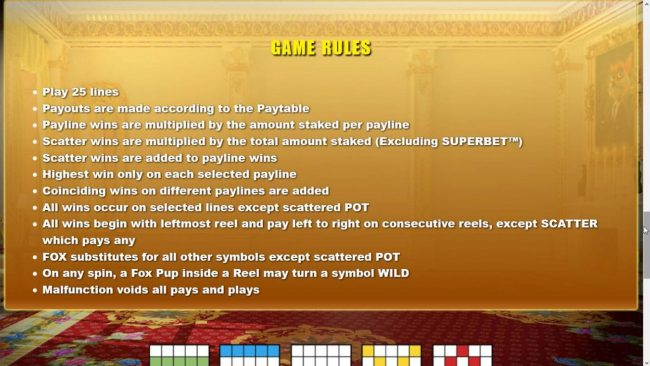 Joy Casino featuring the Video Slots Foxin' Wins HQ with a maximum payout of $125,000