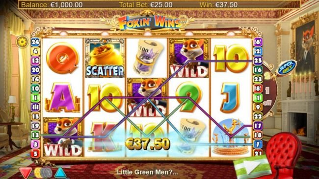 Reel Vegas featuring the Video Slots Foxin' Wins HQ with a maximum payout of $125,000