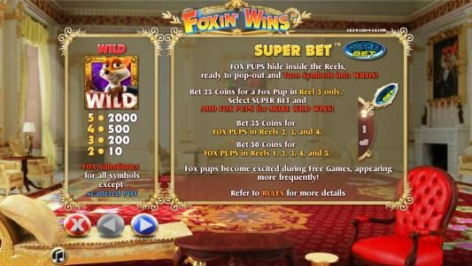 Enzo Casino featuring the Video Slots Foxin Wins with a maximum payout of $4,000