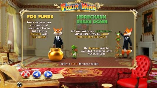 Lord of the Spins featuring the Video Slots Foxin Wins with a maximum payout of $4,000