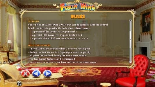 Sun Play featuring the Video Slots Foxin Wins with a maximum payout of $4,000