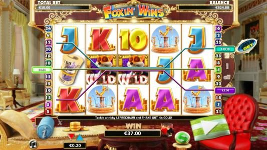 Lucky Me Slots featuring the Video Slots Foxin Wins with a maximum payout of $4,000