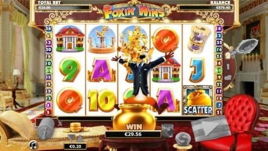 Royal Panda featuring the Video Slots Foxin Wins with a maximum payout of $4,000
