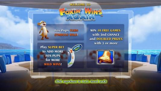 Play slots at Ocean Bets: Ocean Bets featuring the Video Slots Foxin' Wins Again with a maximum payout of $4,000