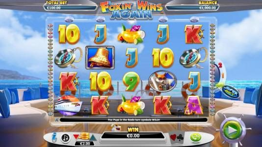 Moon Games featuring the Video Slots Foxin' Wins Again with a maximum payout of $4,000