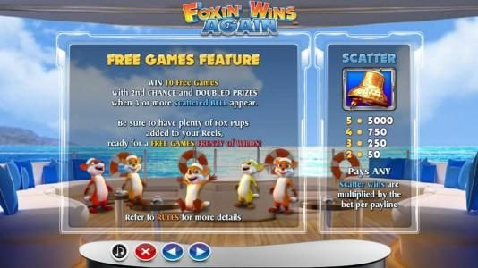 HippoZino featuring the Video Slots Foxin' Wins Again with a maximum payout of $4,000