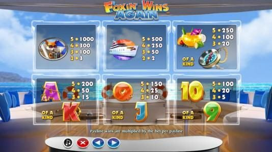 Casino Red Kings featuring the Video Slots Foxin' Wins Again with a maximum payout of $4,000