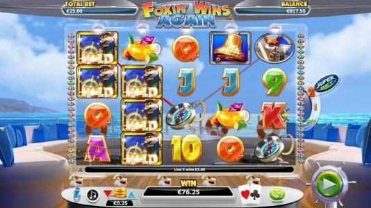 All Slots featuring the Video Slots Foxin' Wins Again with a maximum payout of $4,000