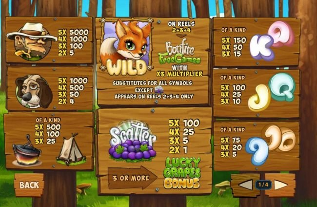 Club 777 featuring the Video Slots Foxy Fortunes with a maximum payout of $500,000