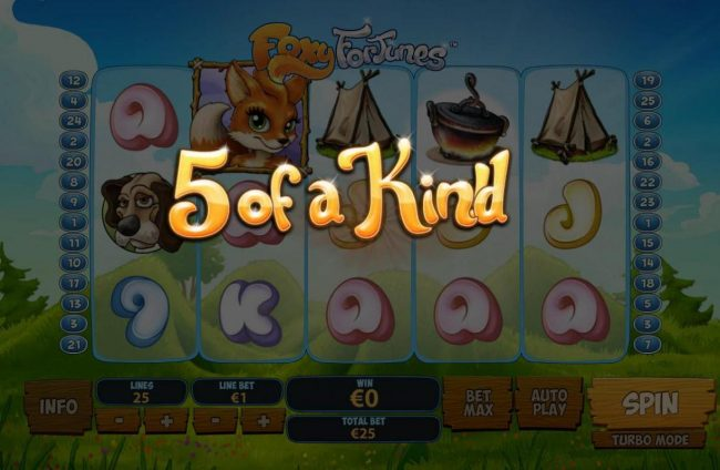 Casino.DK featuring the Video Slots Foxy Fortunes with a maximum payout of $500,000