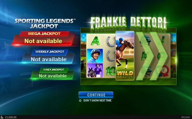 Frank Dettori Sporting Legends :: Introduction