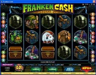 Play slots at Club Gold: Club Gold featuring the Video Slots Franken Cash with a maximum payout of $25,000
