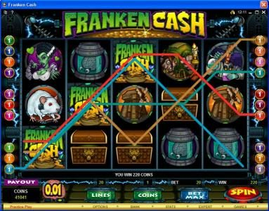 Spinrider featuring the Video Slots Franken Cash with a maximum payout of $25,000