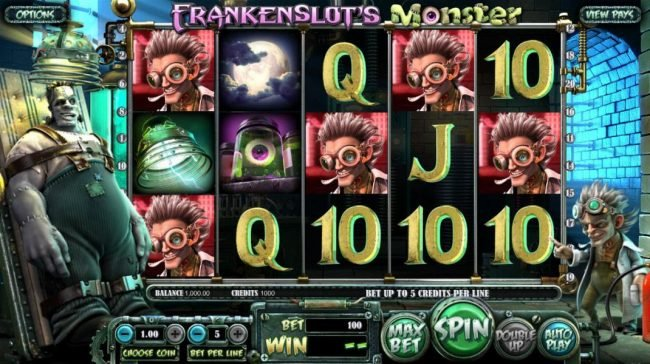 Casino Extra featuring the Video Slots Frankenslot's Monster with a maximum payout of $5,000