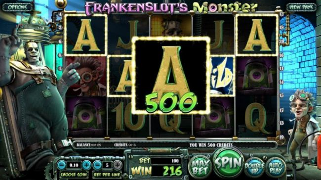 Supreme Play featuring the Video Slots Frankenslot's Monster with a maximum payout of $5,000
