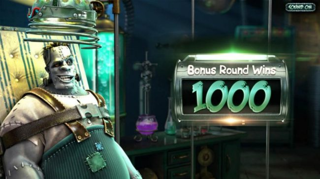 The bonus round pays out a total of 1000 coins for a super win!