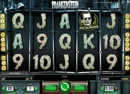 Playgrand featuring the Video Slots Frankenstein with a maximum payout of $37,500