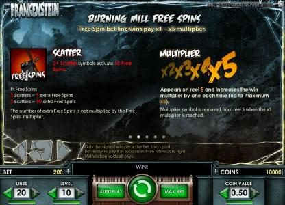 Dasistcasino featuring the Video Slots Frankenstein with a maximum payout of $37,500
