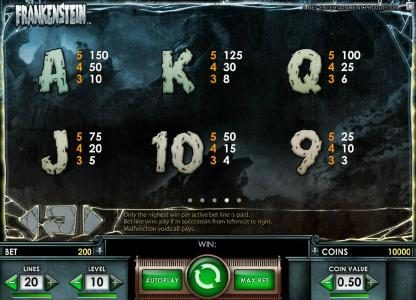 Spinzilla featuring the Video Slots Frankenstein with a maximum payout of $37,500