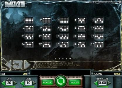 BGO Vegas featuring the Video Slots Frankenstein with a maximum payout of $37,500