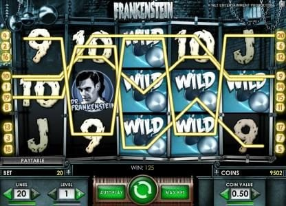 Slotty Vegas featuring the Video Slots Frankenstein with a maximum payout of $37,500