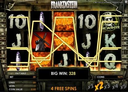 Vbet Casino featuring the Video Slots Frankenstein with a maximum payout of $37,500