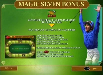 Frankie Dettori's Magic Seven :: bonus anywhere on reels 1 and 5 simultaneously in the game