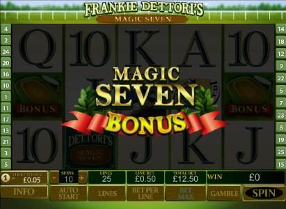 Frankie Dettori's Magic Seven :: bonus round