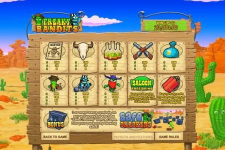 1BET featuring the Video Slots Freaky Bandits with a maximum payout of $25,000