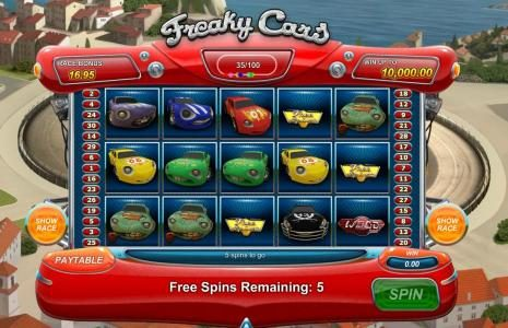 free spins triggered