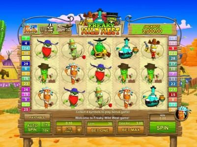 PropaWin featuring the Video Slots Freaky Wild West with a maximum payout of $25,000