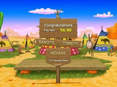 Freaky Wild West :: select bandits, cowboys or indians for your next bonus feature