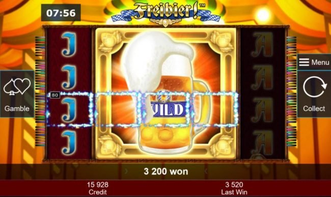 Wild symbol block triggers a big win during the free spins feature