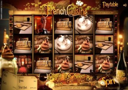 Play slots at Casino Kaiser: Casino Kaiser featuring the Video Slots French Cuisine with a maximum payout of $15,000