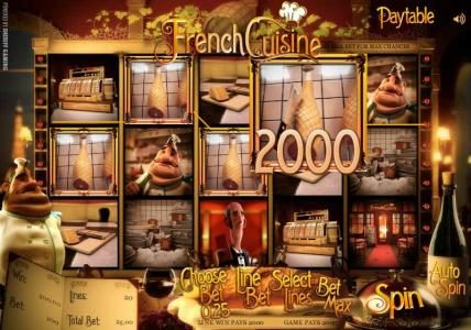 Solara featuring the Video Slots French Cuisine with a maximum payout of $15,000