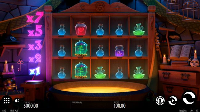 Play slots at VegasMobile: VegasMobile featuring the Video Slots Frog Grog with a maximum payout of $1,000