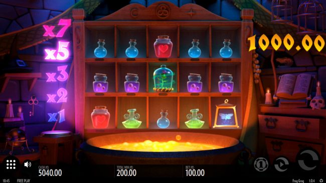 Orientxpress featuring the Video Slots Frog Grog with a maximum payout of $1,000